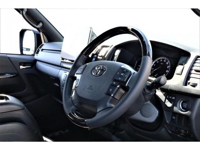 スーパーGL ダークプライムII パーキングサポート・小窓付き・オリジナルフロントスポイラー・オリジナル17インチアルミホイール・グッドイヤーナスカータイヤ・ローダウン1.5インチ・ローダウン用バンプラバー・アルパイン11インチナビ・(8枚目)