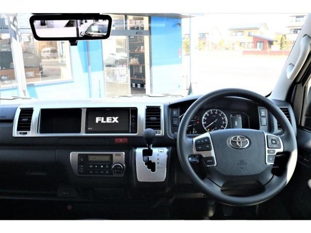 GL ハイエースワゴンGL・4WD・オリジナル内装架装Ver1・ノーマル車高・16インチアルミホイール・モンスタータイヤ・新型・6型ハイエース・ナビ・ETC・フリップダウンモニター・オリジナルシートカバー(2枚目)