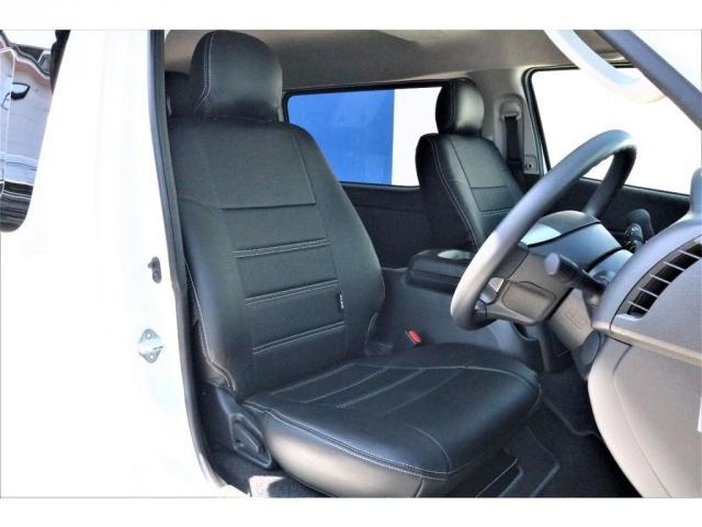 GL ハイエースワゴンGL・4WD・オリジナル内装架装Ver1・ノーマル車高・16インチアルミホイール・モンスタータイヤ・新型・6型ハイエース・ナビ・ETC・フリップダウンモニター・オリジナルシートカバー(8枚目)