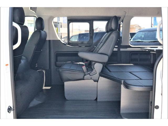 GL ハイエースワゴンGL・4WD・オリジナル内装架装Ver1・ノーマル車高・16インチアルミホイール・モンスタータイヤ・新型・6型ハイエース・ナビ・ETC・フリップダウンモニター・オリジナルシートカバー(38枚目)