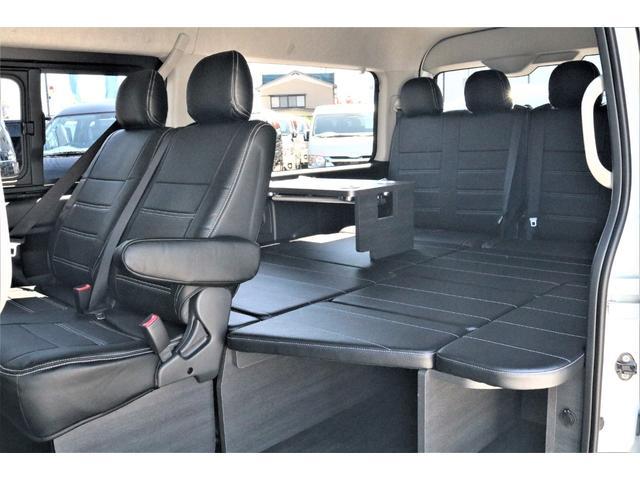 GL ハイエースワゴンGL・4WD・オリジナル内装架装Ver1・ノーマル車高・16インチアルミホイール・モンスタータイヤ・新型・6型ハイエース・ナビ・ETC・フリップダウンモニター・オリジナルシートカバー(39枚目)
