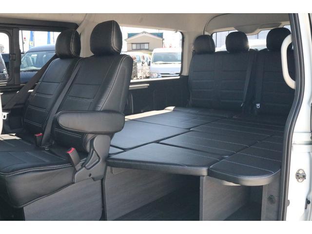 GL ハイエースワゴンGL・4WD・オリジナル内装架装Ver1・ノーマル車高・16インチアルミホイール・モンスタータイヤ・新型・6型ハイエース・ナビ・ETC・フリップダウンモニター・オリジナルシートカバー(40枚目)