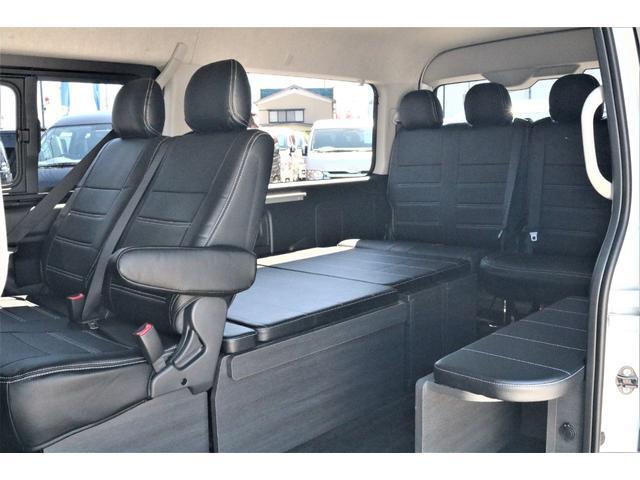 GL ハイエースワゴンGL・4WD・オリジナル内装架装Ver1・ノーマル車高・16インチアルミホイール・モンスタータイヤ・新型・6型ハイエース・ナビ・ETC・フリップダウンモニター・オリジナルシートカバー(41枚目)