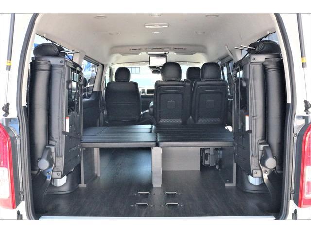 GL ハイエースワゴンGL・4WD・オリジナル内装架装Ver1・ノーマル車高・16インチアルミホイール・モンスタータイヤ・新型・6型ハイエース・ナビ・ETC・フリップダウンモニター・オリジナルシートカバー(46枚目)