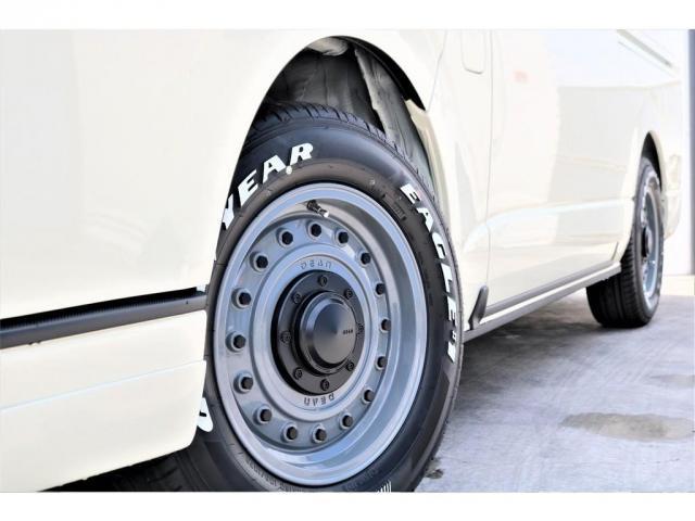 GL パーキングサポート・ハイエースワゴンGLロング・内装架装ベッドキット・フローリング施工・インテリアパネルセット・ローダウン1.15インチ・ローダウン用バンプストップ・16インチアルミホイール・ナスカー(19枚目)