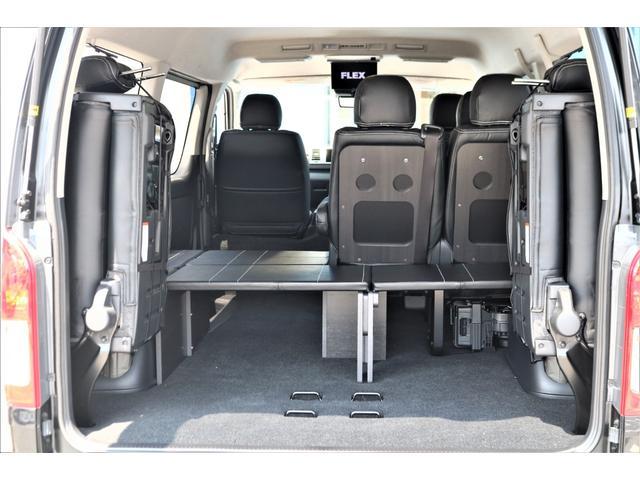GL ロング パーキングサポート・ハイエースワゴン・パノラミックビューモニター・デジタルインナーミラー・オリジナルシートカバー・オリジナルzeroワゴンベッドキット・7インチワイドナビ・ETC・後席用モニター(67枚目)