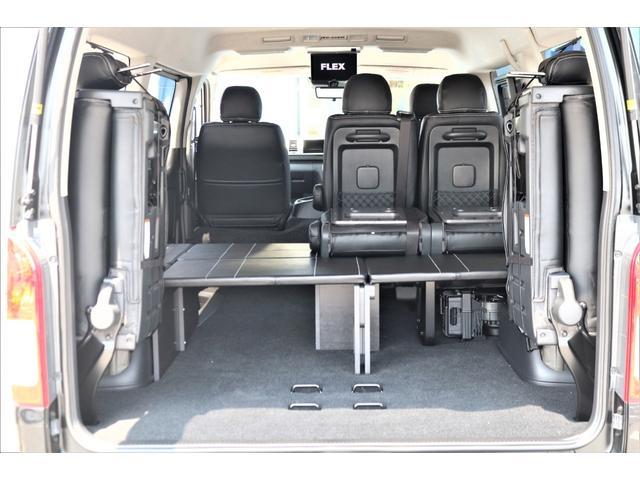 GL ロング パーキングサポート・ハイエースワゴン・パノラミックビューモニター・デジタルインナーミラー・オリジナルシートカバー・オリジナルzeroワゴンベッドキット・7インチワイドナビ・ETC・後席用モニター(69枚目)