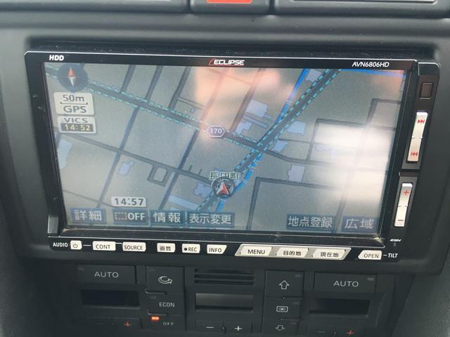 アウディ アウディ A4 2.0TFSIクワトロ HDDナビ ブラックレザー