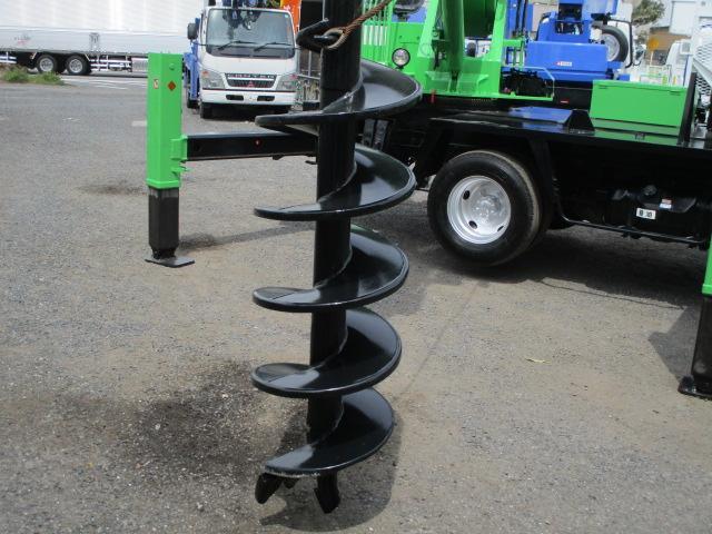 アイチ製 D50A 穴掘建柱車 抜柱機 水タンク(12枚目)