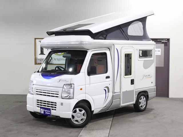 軽キャンパー インディアナRV インディ727 4WD サブバッテリー 走行充電 400Wインバーター 外部電源 ソーラーパネル コンビロールポップアップルーフ FFヒーター SDナビ フルセグ ETC ミラー型モニター(48枚目)