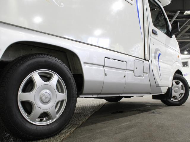 軽キャンパー インディアナRV インディ727 4WD サブバッテリー 走行充電 400Wインバーター 外部電源 ソーラーパネル コンビロールポップアップルーフ FFヒーター SDナビ フルセグ ETC ミラー型モニター(62枚目)