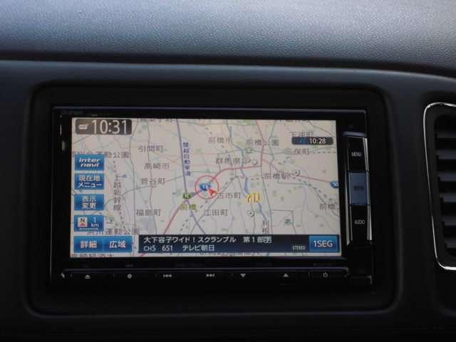ホンダ純正の7インチNAVI!大型の画面で、地図も見やすく・文字も大きい!渋滞情報が細かくわかる「ホンダインターナビ」です。