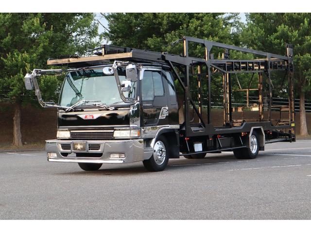 積載車 3台積み キャリアカー ワイドロング ベッド付き(2枚目)