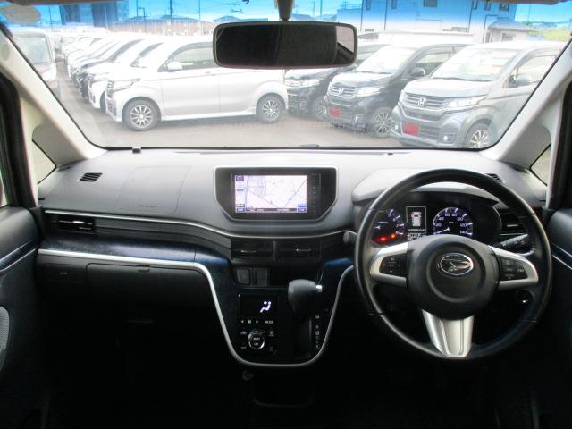 カスタム RS ハイパーSA 純正ナビ フルセグ ブレーキサポート ターボ 4WD アイドリングストップ フルセグ Bluetooth LEDライト オートライト 純正15インチアルミ スマートー プッシュスタート DVD再生可(3枚目)