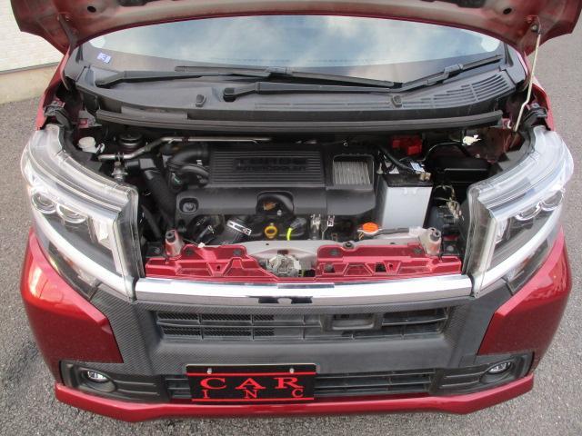 カスタム RS ハイパーSA 純正ナビ フルセグ ブレーキサポート ターボ 4WD アイドリングストップ フルセグ Bluetooth LEDライト オートライト 純正15インチアルミ スマートー プッシュスタート DVD再生可(9枚目)