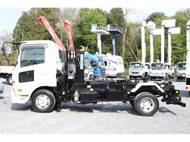 新明和アームロール CCA44-30 ツインホイスト リモコン 積載3650kg 車両総重量 7990kg シート置き ラジオ ETC 左電各ミラー EHS DPF アドブルー(5枚目)