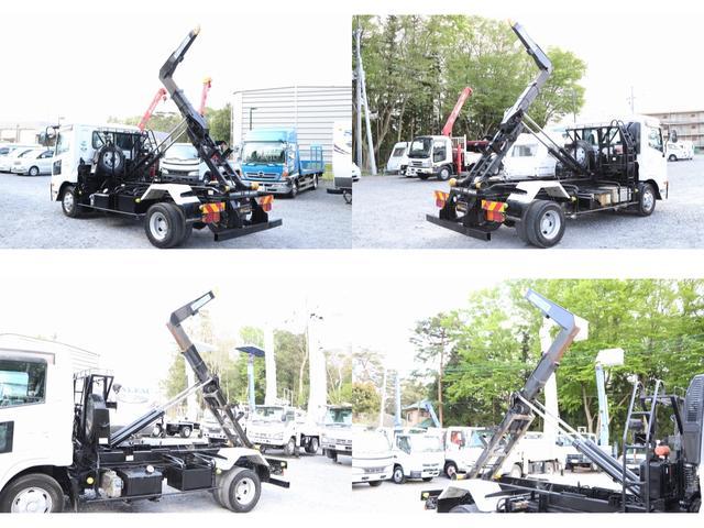 新明和アームロール CCA44-30 ツインホイスト リモコン 積載3650kg 車両総重量 7990kg シート置き ラジオ ETC 左電各ミラー EHS DPF アドブルー(11枚目)