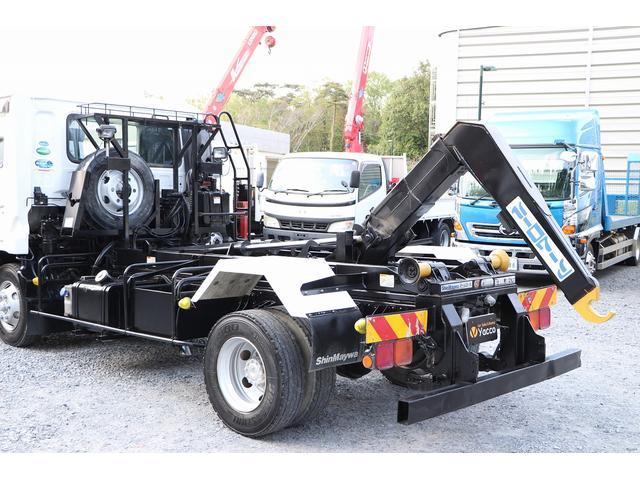 新明和アームロール CCA44-30 ツインホイスト リモコン 積載3650kg 車両総重量 7990kg シート置き ラジオ ETC 左電各ミラー EHS DPF アドブルー(44枚目)