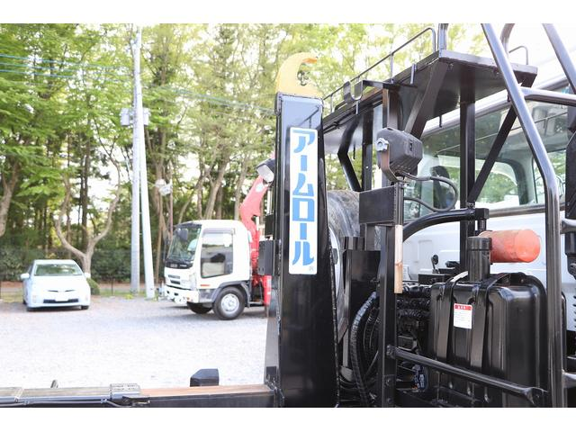 新明和アームロール CCA44-30 ツインホイスト リモコン 積載3650kg 車両総重量 7990kg シート置き ラジオ ETC 左電各ミラー EHS DPF アドブルー(54枚目)