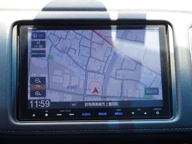 ホンダ純正ギャザズナビ搭載 通信により最新の交通情報を取得してルートを探したりお天気情報を教えてくれるインターナビ