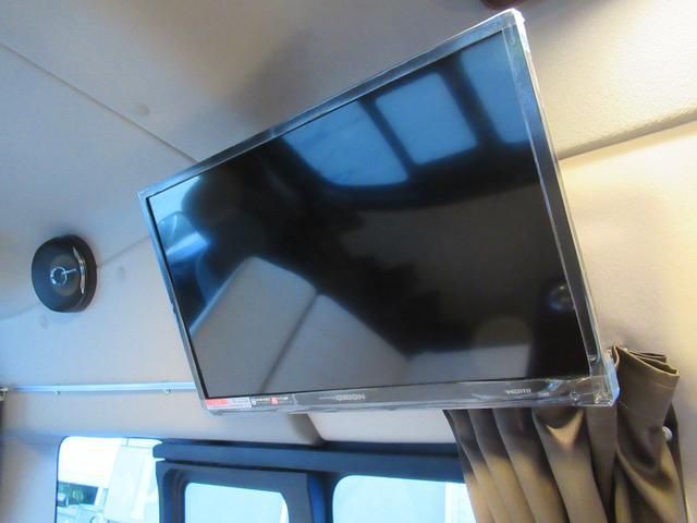 車中泊時のお供に、テレビも装備済みでご家庭の様な空間でお過ごしいただけます!