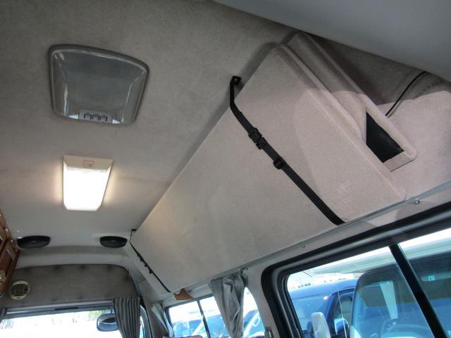 キャンピング ビークル製 ブロス サブバッテリー 外部充電 インバーター 20L給排水ポリタンク シンク コンロ 40L冷蔵庫 架装部テレビ 電子レンジ リアクーラー リアヒーター SDナビ ETC(70枚目)