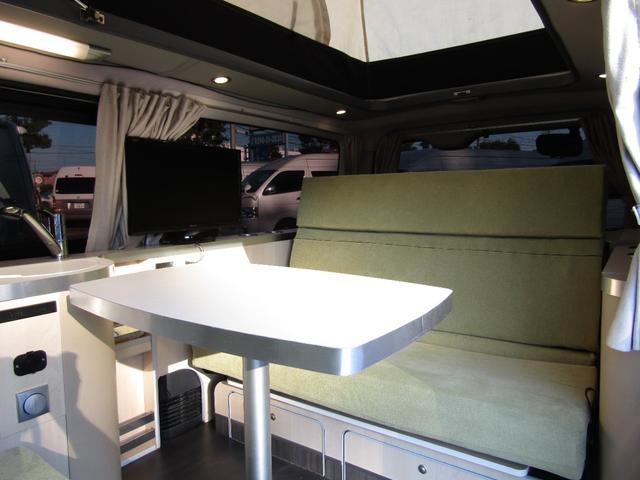 バンテック製マヨルカ NoxPM適合 ディーゼルターボ 4WD ツインサブバッテリー 1500Wインバーター ベバストFFヒーター 外部充電 外部電源 走行充電 DC冷蔵庫 ポップアップルーフ テレビ(5枚目)