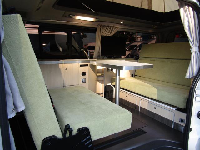 バンテック製マヨルカ NoxPM適合 ディーゼルターボ 4WD ツインサブバッテリー 1500Wインバーター ベバストFFヒーター 外部充電 外部電源 走行充電 DC冷蔵庫 ポップアップルーフ テレビ(43枚目)