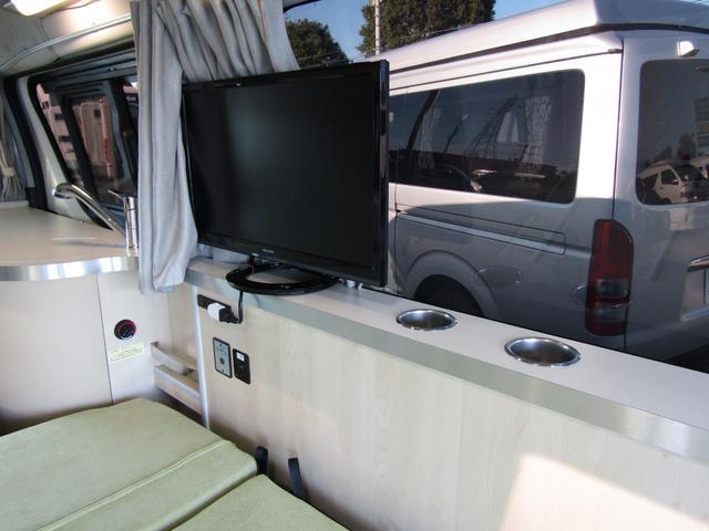 バンテック製マヨルカ NoxPM適合 ディーゼルターボ 4WD ツインサブバッテリー 1500Wインバーター ベバストFFヒーター 外部充電 外部電源 走行充電 DC冷蔵庫 ポップアップルーフ テレビ(61枚目)