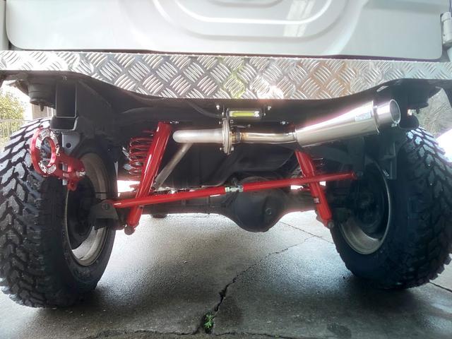 XC 新品MTタイヤ リフトUP ナビ TVフルセグ スキッドガード 社外バンパー マフラー 牽引フック ナックルオーバーホール セルモーター交換済み LEDテール バックランプ ナンバー移設(17枚目)