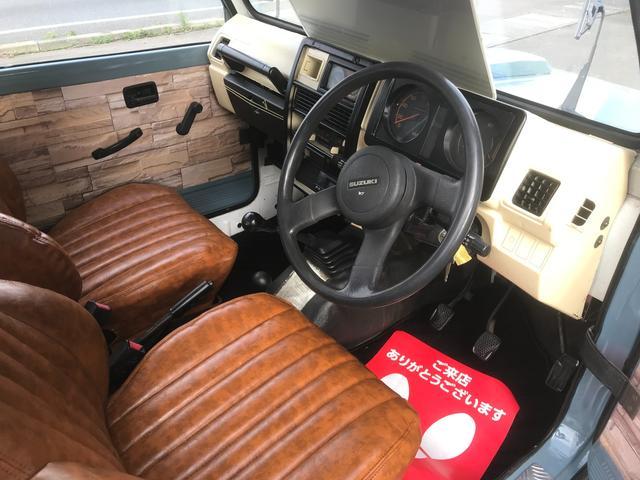 HA 全塗装仕上げ済み フロアマット新品 社外革調シート ワンオーナー 4WD 記録簿 車検令和5年6月まで 内張・内装仕上げ済み マフラー加工済み ステップピラー装着済み オートハブ車両(8枚目)