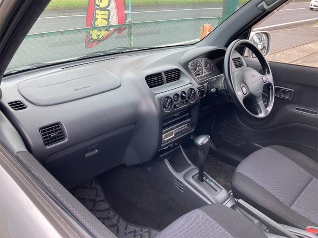 カスタムL キーレス CDオーディオ 背面タイヤ ドアバイザー リアワイパー リアスポイラー フォグランプ 純正15インチアルミ ダブルエアバッグ オートマ車(35枚目)