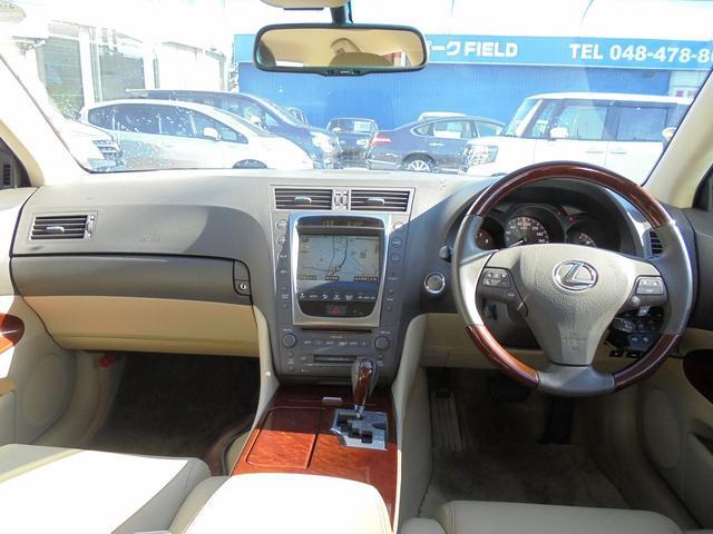 レクサス GS GS350 4WD 後期型 革シート HDDナビ Bカメラ