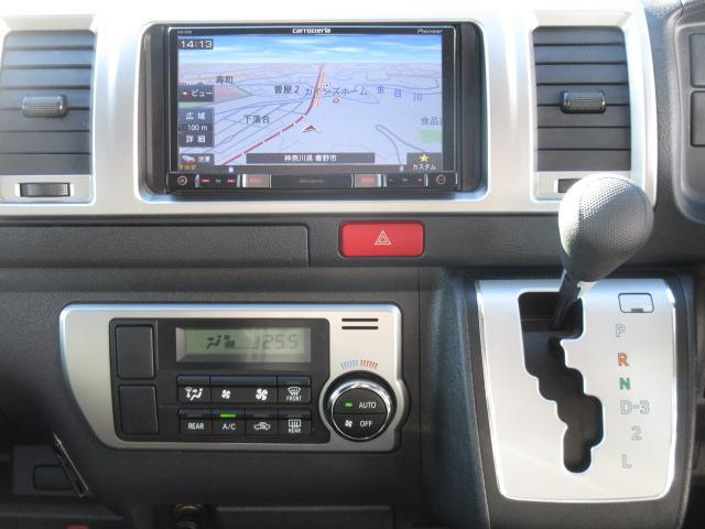 トヨタ ハイエースバン ロングスーパーGL モデリスタ 社外フルセグSDナビ LED