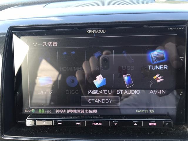 T ターボ 禁煙車 社外SDナビ 12セグTV DVD ブルートゥース スマートキー プッシュスタート HIDライト フォグランプ ETC ステリモ 純正15インチアルミ 純正エアロ リアスポイラー(29枚目)