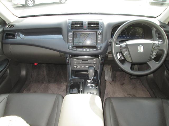 トヨタ クラウンハイブリッド ベースグレード 地デジHDDナビサイドリアカメラ 電動黒革