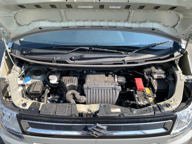 ハイブリッドFX 禁煙 ワンオーナー フル装備 ABS スマートキー プッシュスタート アイドリングストップ 衝突被害軽減装置 レーンアシスト コーナーセンサー CD AUX オートライト 保証書 取扱説明書(31枚目)