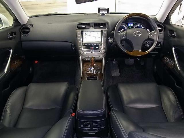 レクサス IS IS350 バージョンL 本革パワーシート 純正HDDナビ