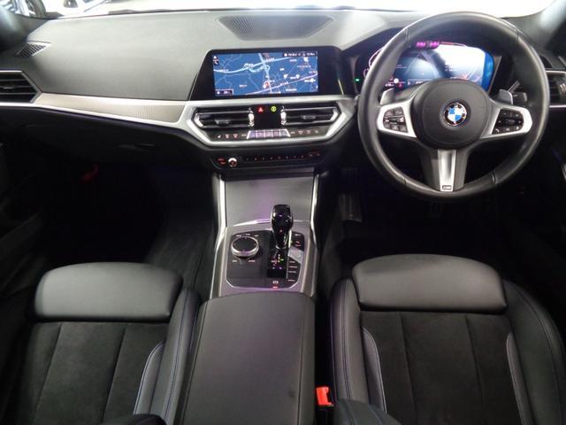 320i Mスポーツ パーキングアシスト ACC BSM PDC スクリーンミラーリング ワイヤレス充電 シートヒーター 前後ドラレコ iDrive ETC パドルシフト オートトランク 衝突被害軽減ブレーキ 車線変更警告(3枚目)