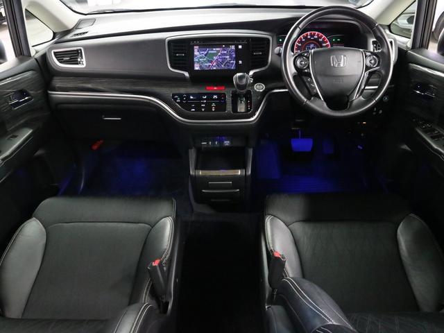 アブソルート 衝突軽減ブレーキ フリップダウンモニター 純正ナビ バックカメラ Bluetooth フルセグ ハーフレザー オットマン 電動スライドドア パドルシフト ETC アイドリングSTOP クルコン LED(3枚目)
