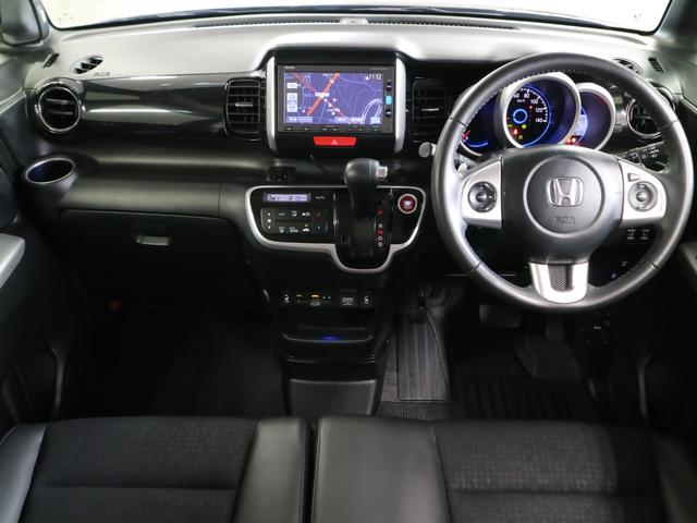 G ターボSSブラックスタイルパッケージ 特別仕様車 シートヒーター ドラレコ 純正ナビ フルセグ Bluetoothオーディオ バックカメラ ETC 両側パワースライドドア クルコン パドルシフト HIDヘッドライト フォグ 純正15アルミ(4枚目)