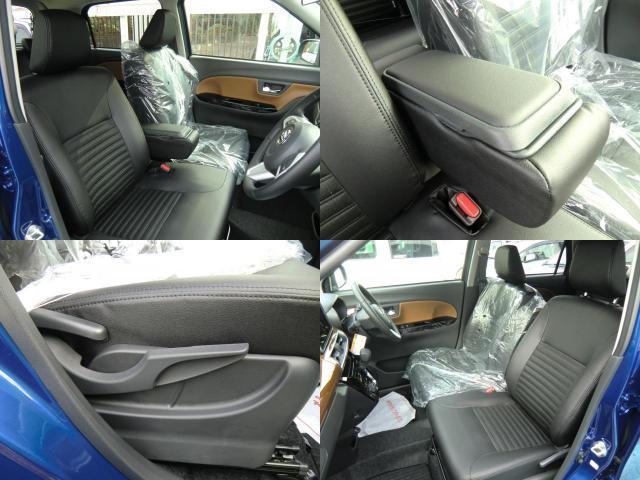 前席には収納付きのアームレストが付いています。そして、運転席は座面を上下に調整できるシートリフター付きです。