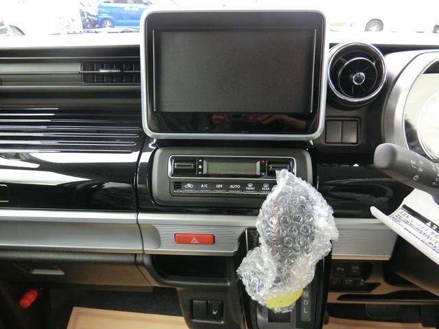 スズキ スペーシアカスタム ハイブリッドXS 新品ナビTV・自動ブレーキ・LEDライト