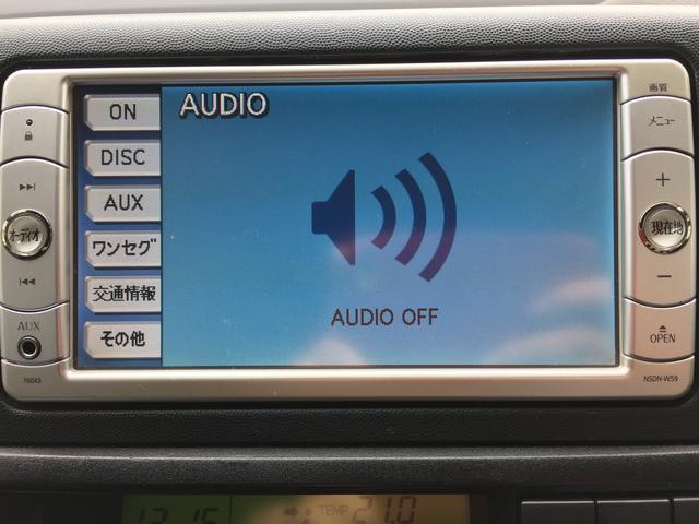 トヨタ ウィッシュ 1.8X 純正メモリーナビ DVD再生 ワンセグ
