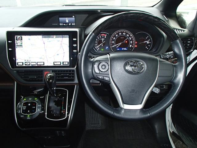 Gi後期10インチSDフルセグ後席モニター黒革S両側自動ドア(9枚目)