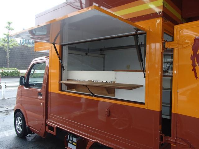 KCキッチンカー移動販売車SDナビAC100Vインバーター(16枚目)