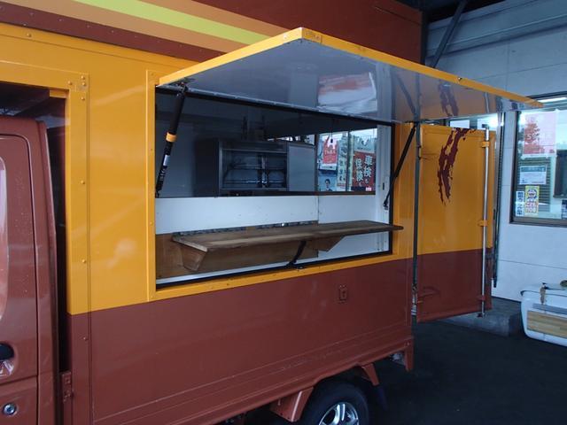KCキッチンカー移動販売車SDナビAC100Vインバーター(17枚目)