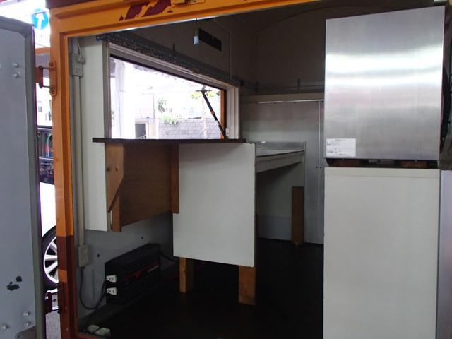 KCキッチンカー移動販売車SDナビAC100Vインバーター(19枚目)
