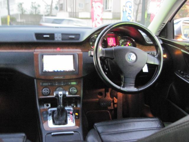 フォルクスワーゲン VW パサート V64モーション 社外HDDナビ地デジ ブラックレザー