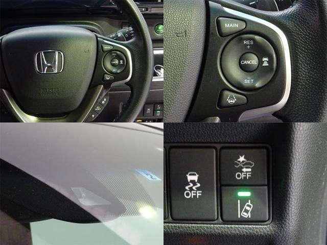 ステアリングのボタンで簡単操作 安全運転支援システム Honda SENSING装着車です